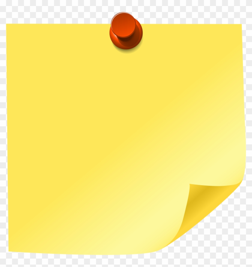 Yellow Sticky Note Png Clip Art - Sticky Note Clipart ...