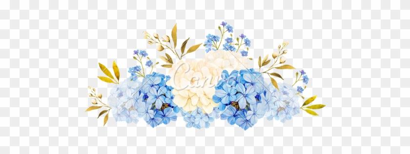 296fe4e0ad1 Watercolor Bouquet Transparent Png Stickpng - Blue Watercolor Flowers  Transparent  347141