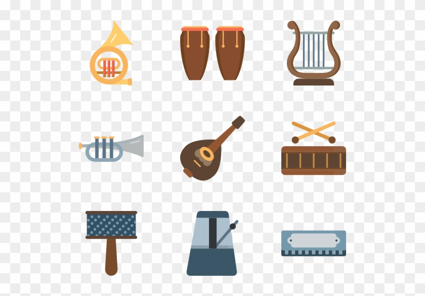 Color Musical Icons - Percussion Instrument Free Icons Set #347183