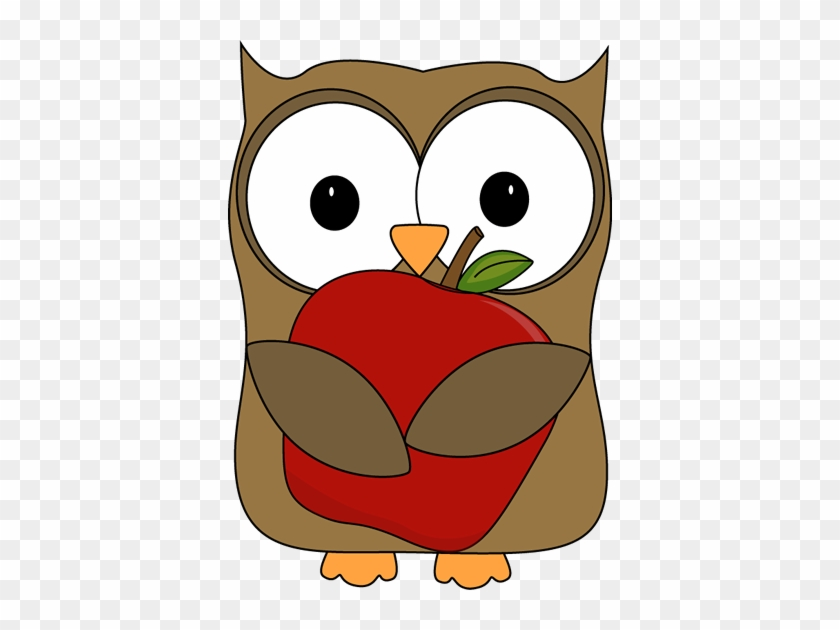 Happy 8th Anniversary Clipart - Owl Apple Clipart #60993