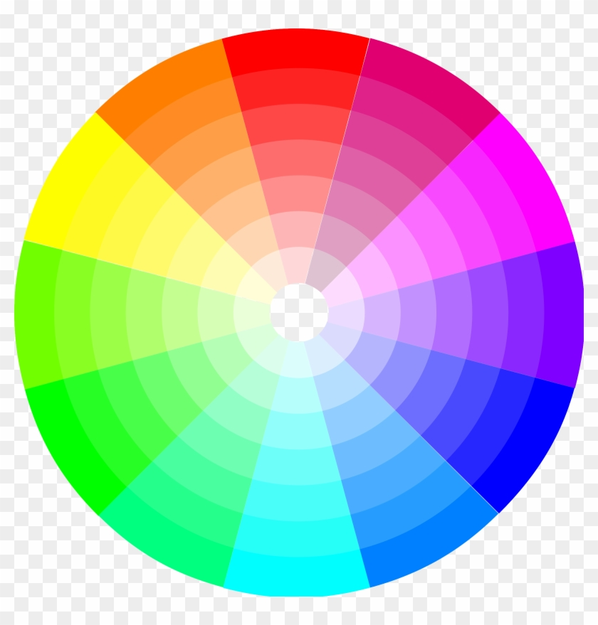 Color Circle Cliparts - Teal On Color Wheel #61050