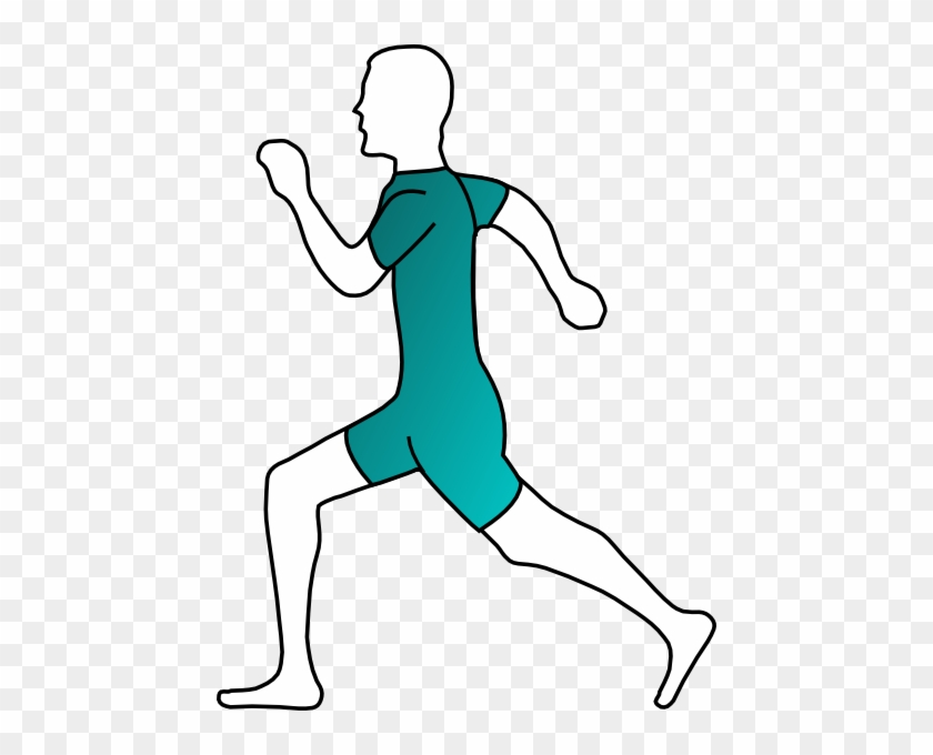 Runner Clip Art At Clker - Running Man Clip Art #61061