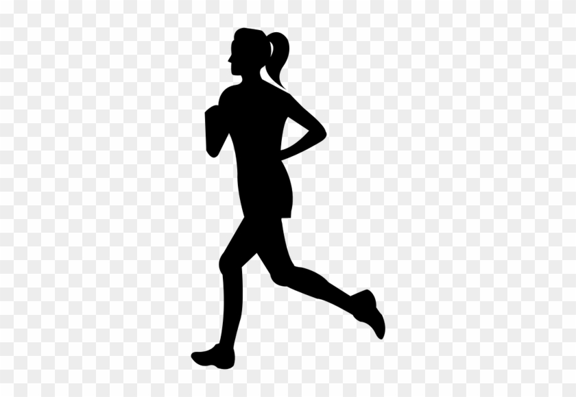 Woman Running Image Public Domain Vectors - Woman Running Silhouette Png #61075