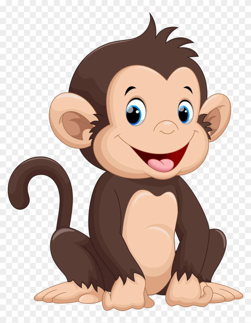 Monkey Cartoon Drawing Illustration Cute Monkey Cartoon Free Transparent Png Clipart Images Download