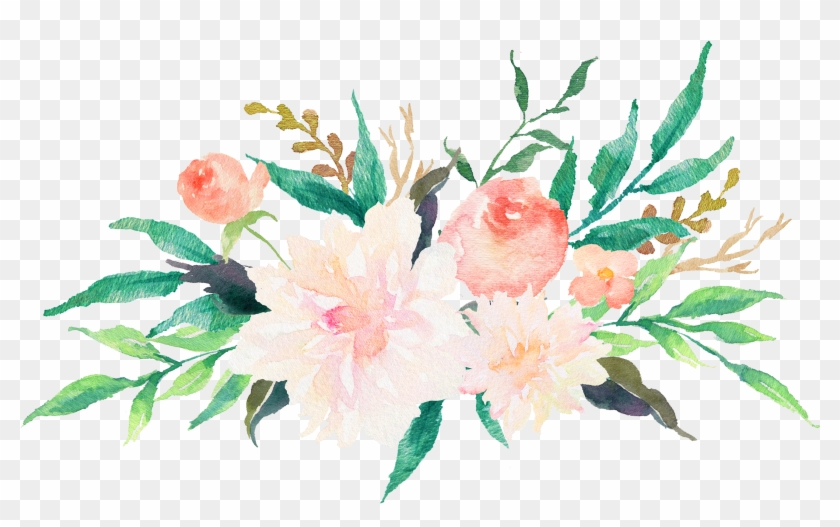 Wedding Invitation Watercolor Painting Flower Floral - Watercolor Flowers #348590