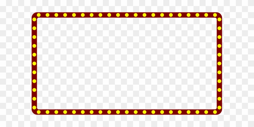 Marquee Theater Border Frame Theatre Movie
