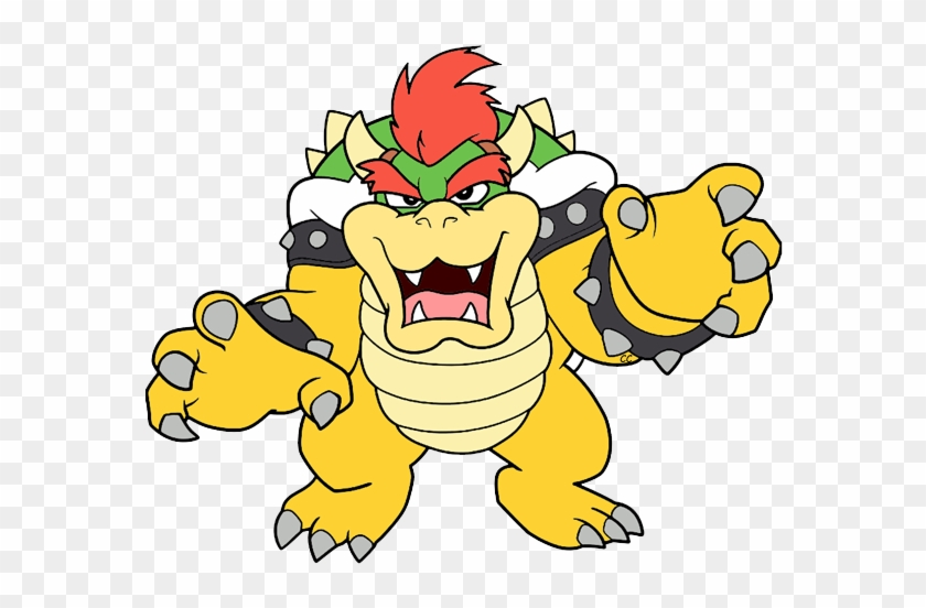 Images Were Colored And Clipped By Cartoon Clipart - Mario Bowser Clipart #348869