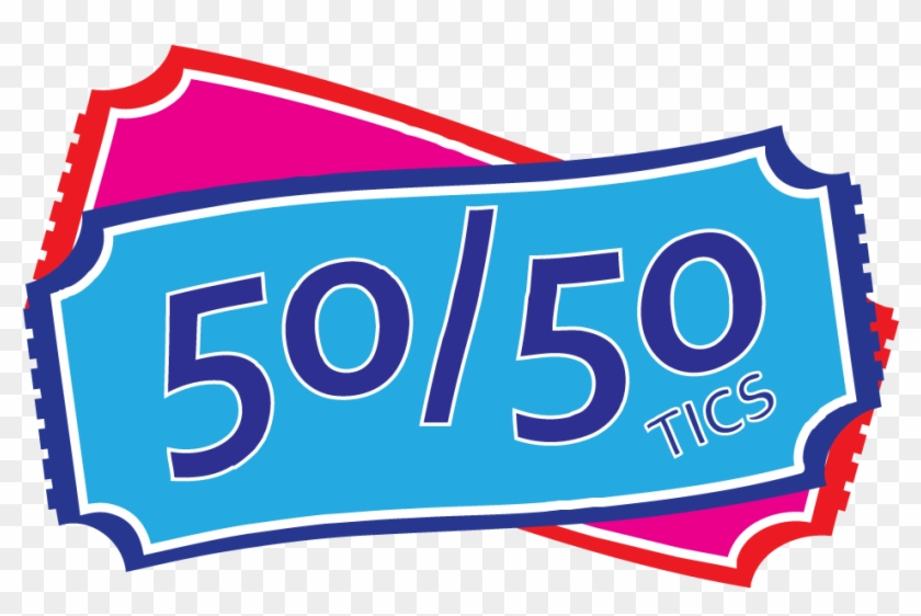 50/50 Draw Clipart - 50 50 Tickets Clipart #349109