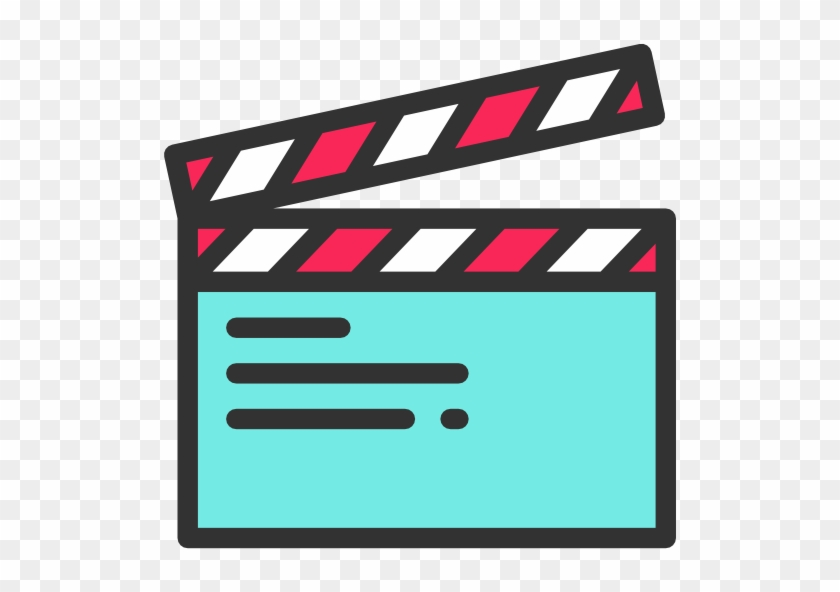 Cinema, Film, Movie, Clapboard, Clapperboard, Clapper - Movie Theater Icon Png #349220