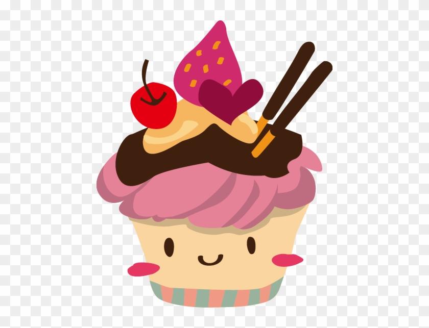 Ice Cream Sundae Cupcake Muffin Picture Frame - Sundae Ice Cream Cartoon #349236