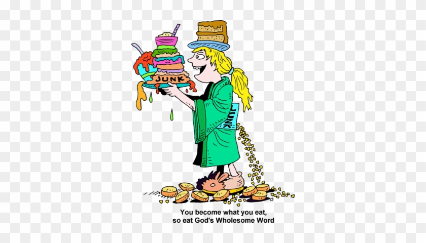 Junk Food Junkie Clipart - You Become What You Eat #349263