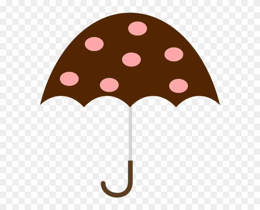 Polka Dot Umbrella Clip Art At Clker - Umbrella Clip Art #349682