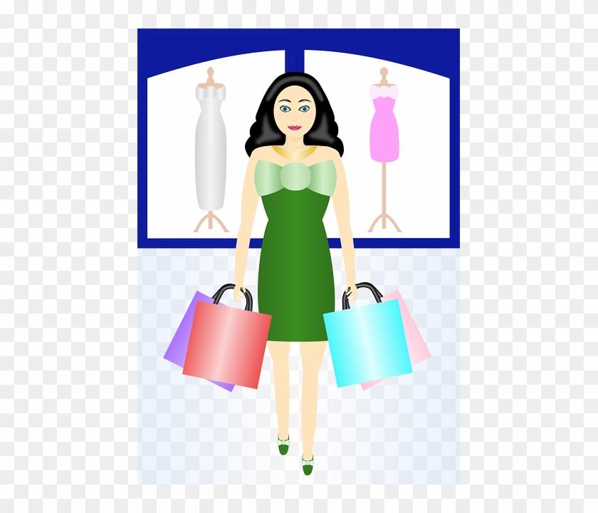 Gifts Woman, Shopping, Retail, Bags, Clothes, Dress, - Einkaufssüchtiger, Lustiges Wishcard - Addieren Grußkarte #349757