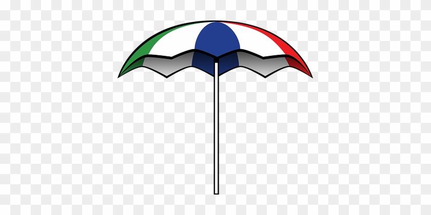 Sunshade Beach Gathering Party Rain Umbrel - Big Umbrella Clip Art #349841