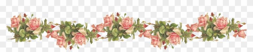 Catherine Klein Pink Roses Digital Elements Wings Of - Transparent Background Roses Border #349997