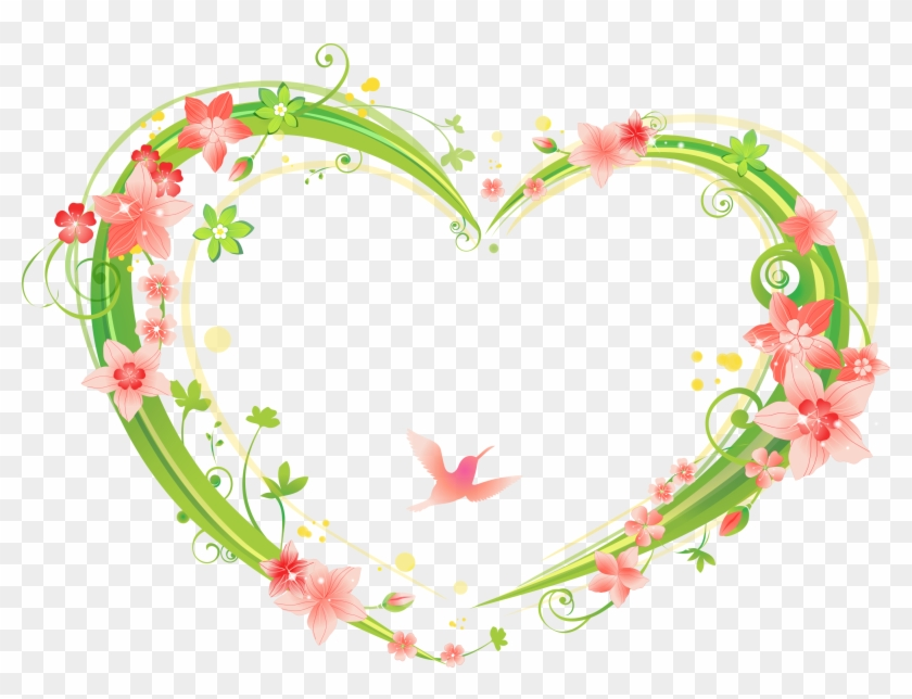 Heart-shaped Flowers Frame 2660*1914 Transprent Png - Flowers Frame ...