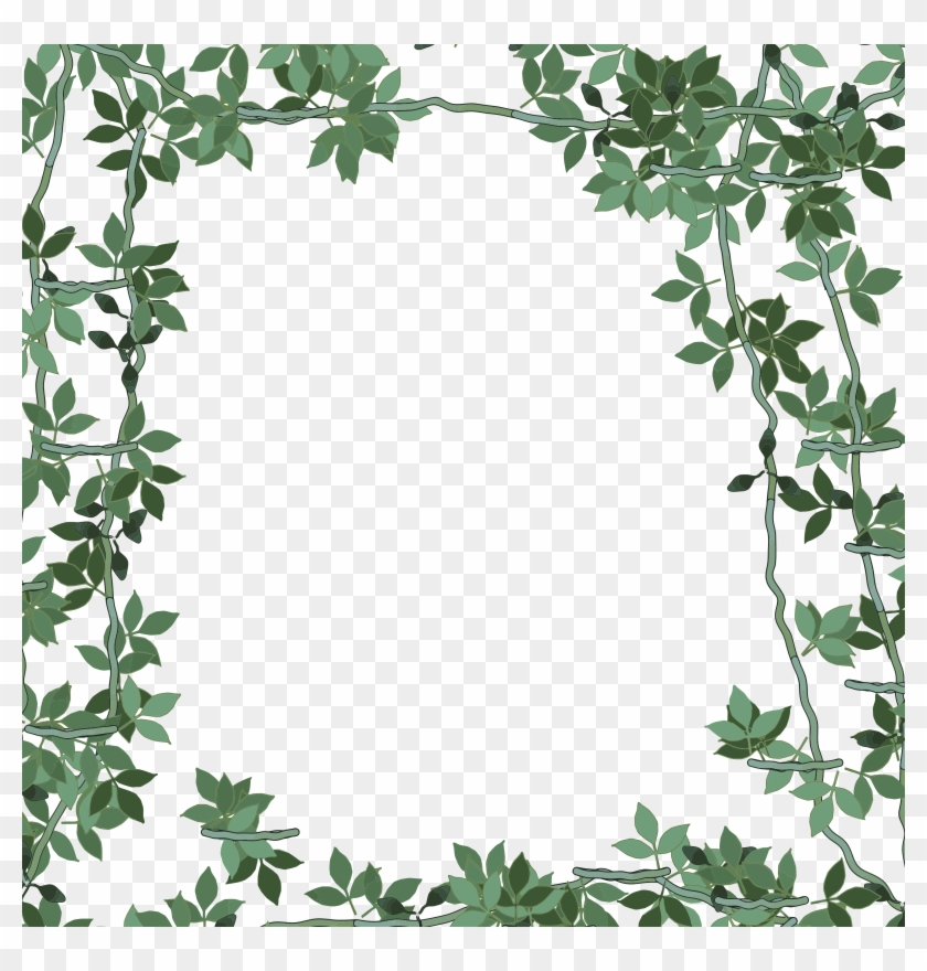 This Free Icons Png Design Of Green Floral Frame - Green Floral Frame #350087