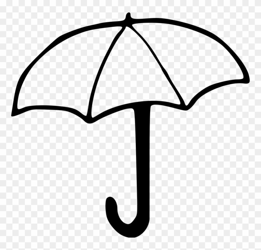 Beach Umbrella Clip Art Free Clipart Umbrella Outline - Drawing Image Of Umbrella #350106