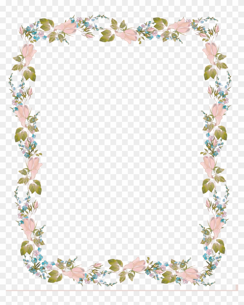 Wedding Invitation Clip Art - Flower Border Design Png #350151