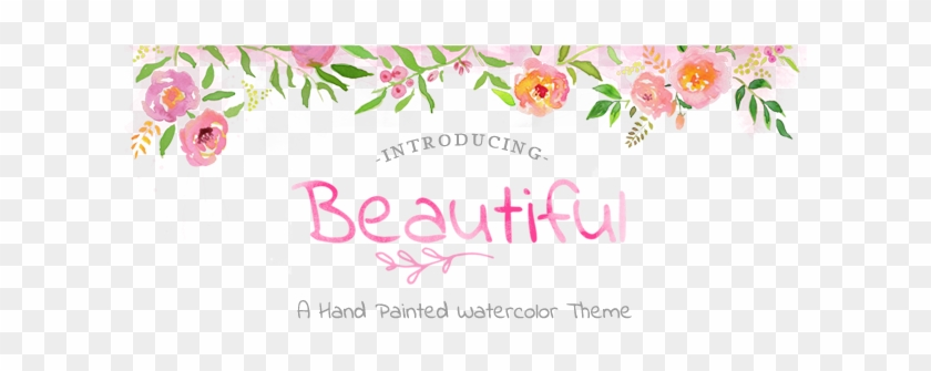 Beautiful Logo - Hand Painted Flowers Template #350306