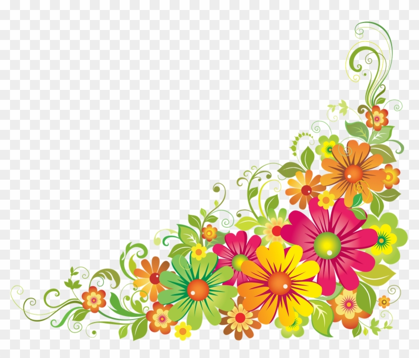 Flower Psd Via - Flower Border Clipart #350323