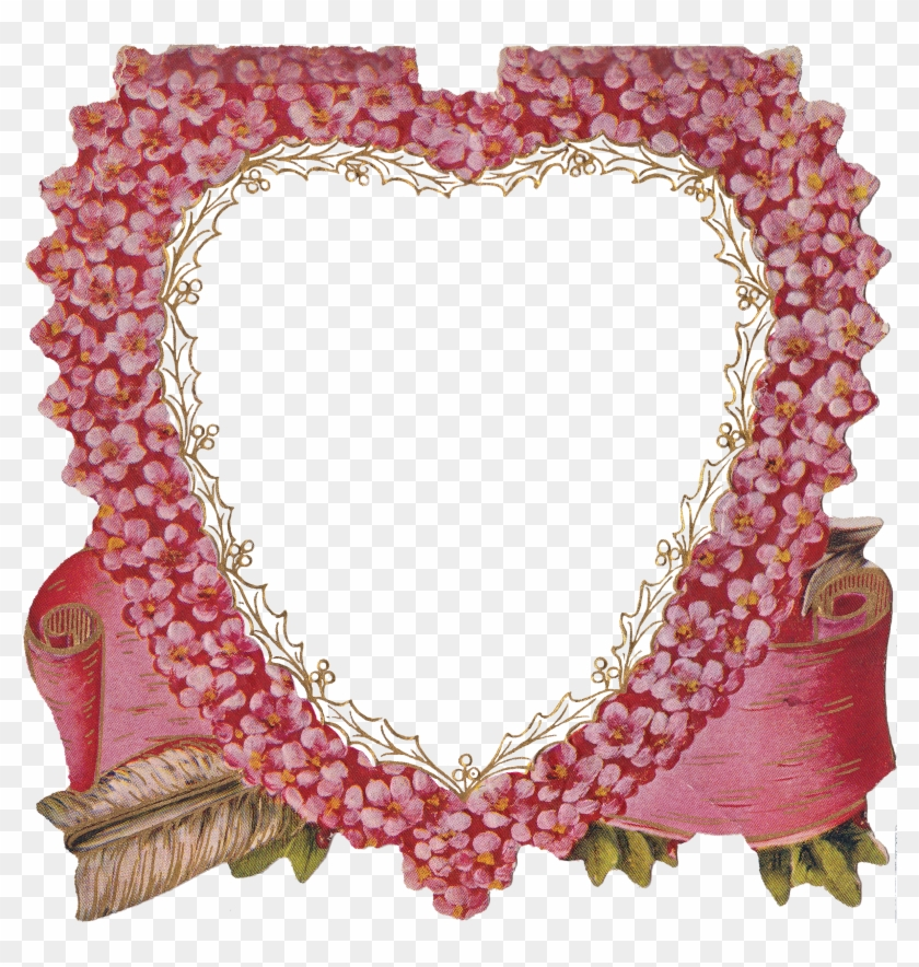 Clipart Frame Heart Pictures Free Image - Heart Frame With Clear Background #350569