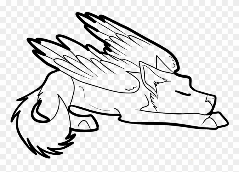 Winged Cat Drawing At Getdrawings Com Free For Personal Winged Wolf Anime Coloring Page Free Transparent Png Clipart Images Download