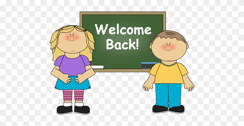 First Day Of School Kid Clipart - Welcome Back To School Card #350833