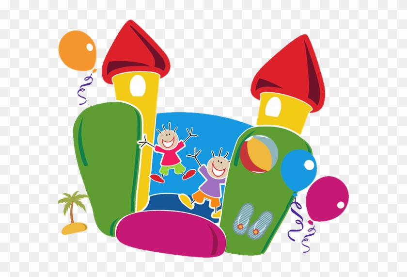 Bounce House Clipart - Community Fun Day Poster #350836