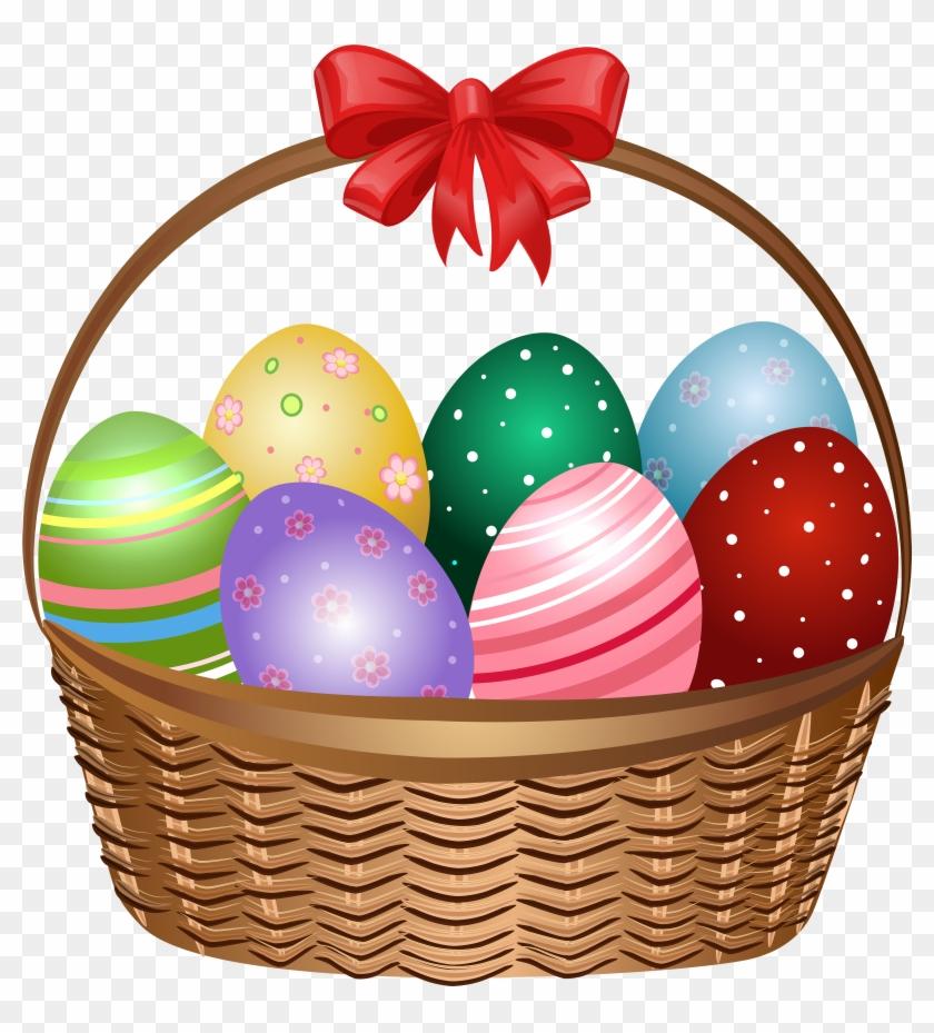 Easter Clipart Transparent Background - Easter Basket Images Clip Art #351190