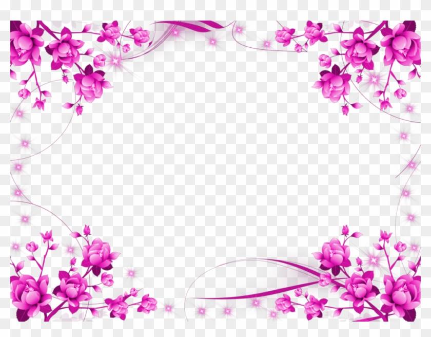pink floral border png image transparent purple flower frame png