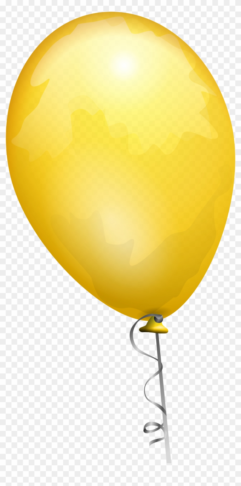 Balloon Png579 - Yellow Balloon Transparent Background #351295