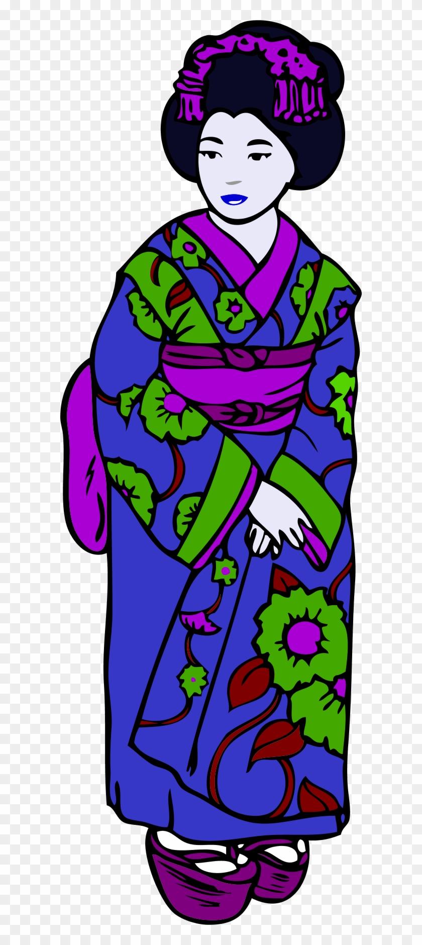 Inspiration Kimono Clip Art Medium Size - Madama Butterfly (english And Italian Edition) #351437