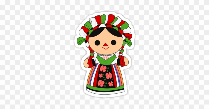 'maria 5 ' Sticker By Alapapaju - Mexican Doll #351575