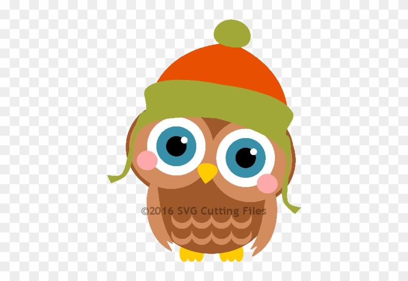 Winter Owl - Owl In Winter Free Svg #351995