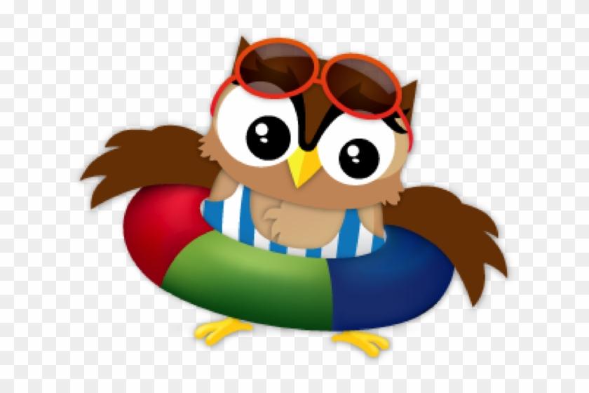 Sw Edwin Day At The Beach - Beach Owl Clipart #352062