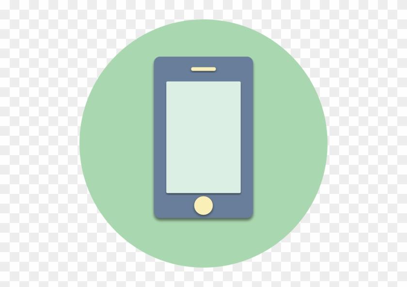 512 X 512 - Mobile Phone Icon Circle #352092