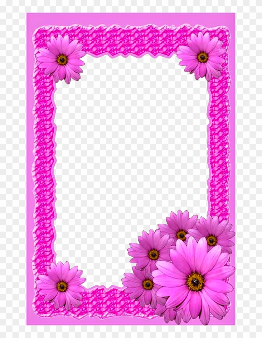 Pink Flower Png Frame - Frame Background Free Download Png #352209