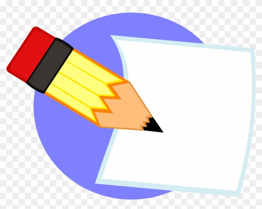 Pencil Clip Art Ideas Medium Size - Pencil And Paper Png #352285