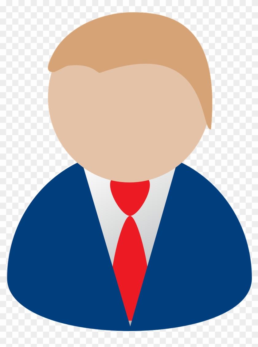Man Cartoon Suit Businessman Png Image - Person Clip Art #352303