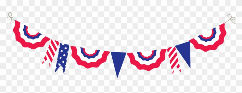 Bunting Clipart 4th July - Independence Day #352666