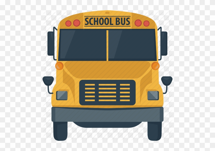 Car Front View Cartoon - School Bus Icon Png #352738