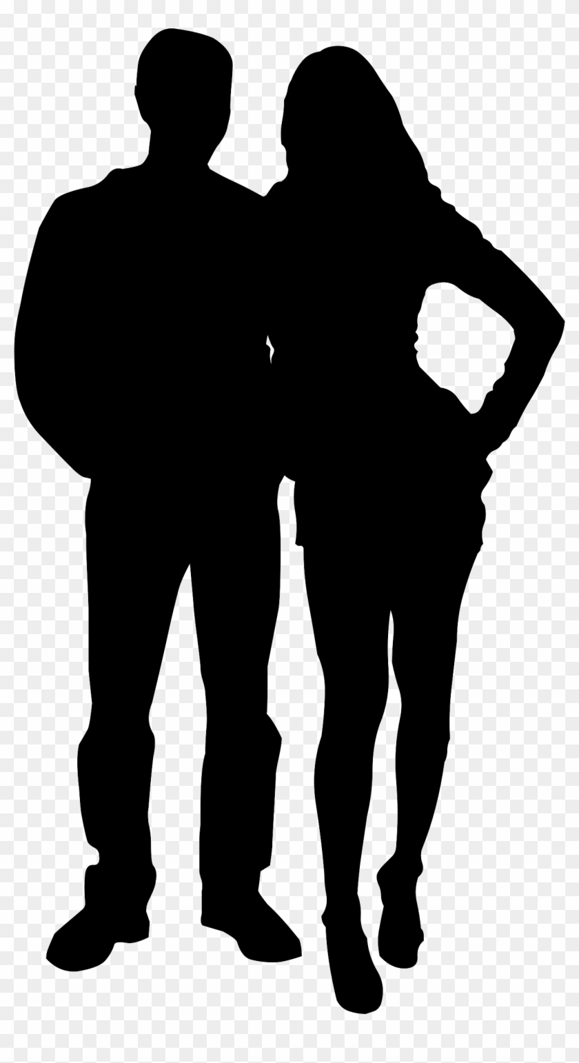 Wedding, Couple, Silhouette, Love, Relationship - Man And Woman Silhouette Png #352973