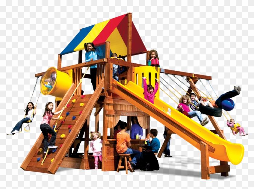 Monster Clubhouse Pkg Ii Fancy 79a Swingset - Swing #353327