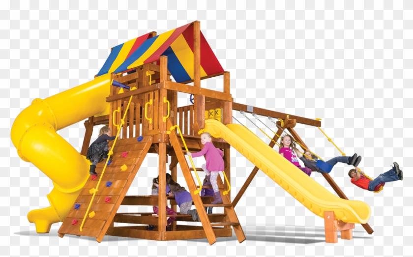 Carnival Clubhouse Pkg V Modified - Backyard Playworld #353350