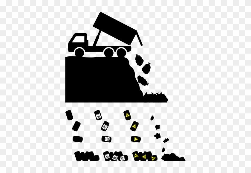 Biohazard Waste Disposal Vector Graphics - Landfill Vector