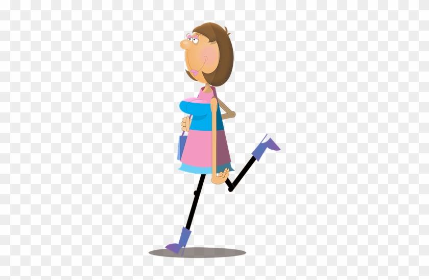 Woman, Female, Cartoon, Character, Walking, Shopping - Woman #353678