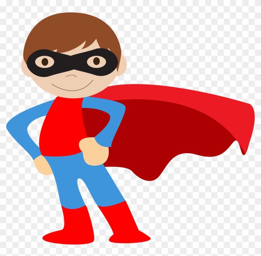 Kids Dressed As Superheroes Clipart - Kid Superhero Clipart #353698
