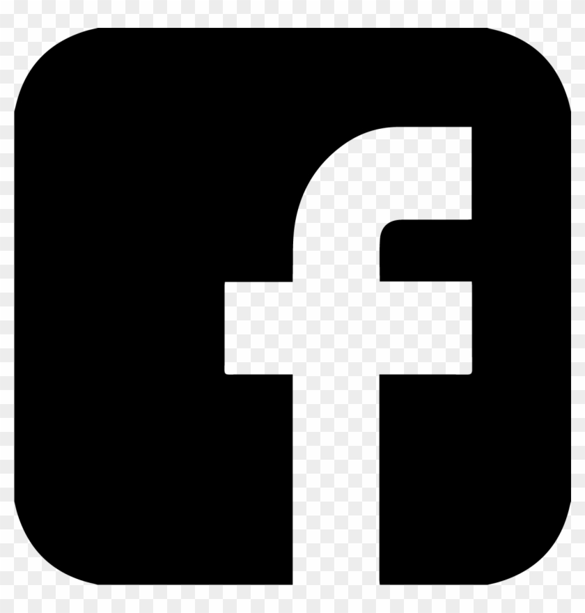 Facebook Transparent Clipart - Facebook Logo Black #354063