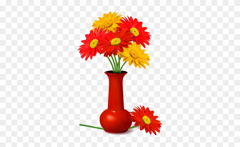 Vase Of Flowers Png Pin Cartoon Flower Vase Decorative Png Flowers
